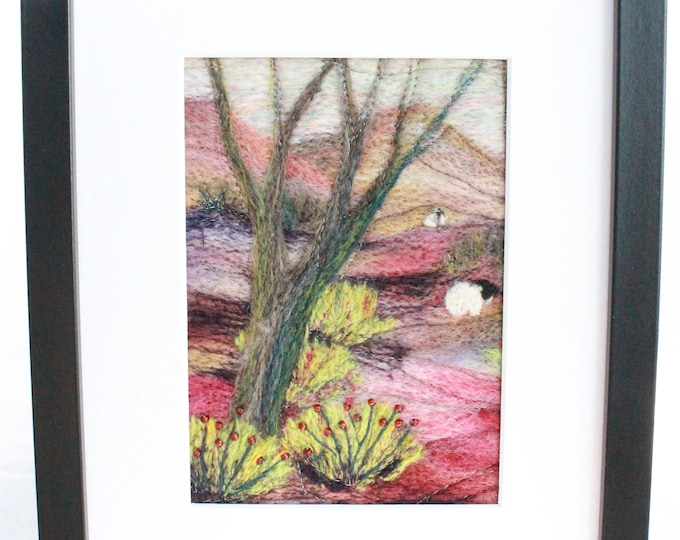 Needle felted Picture (fsmpic15), hand made picture.