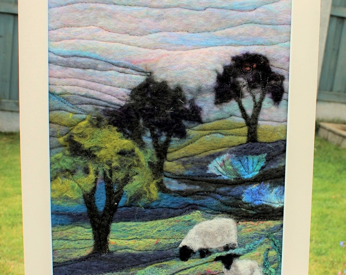 Large Needle-felted Picture (lpic7) , hand made picture.