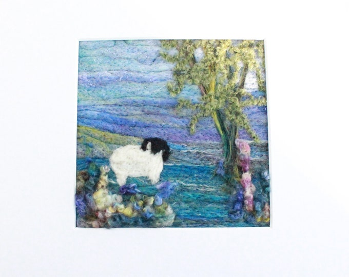 Needle felted Picture (fsmpic14), hand made picture.