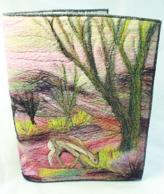 Needle Felted Covered A5 Book (Deer)