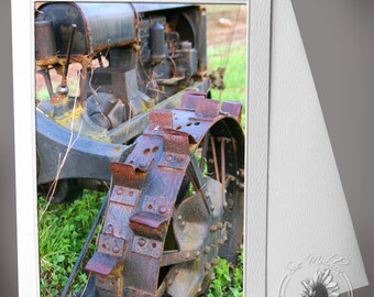 Photocard: Tractor In Field