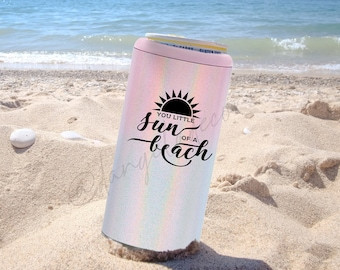 Sun of a Beach Skinny Can Cooler Truly Hard Slim Sparkling Seltzer Pool Beach Vacation Gift Lake Motorboatin' Pontoon Tritoon Coast Chair