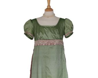 ac001703ab93 Ladies Regency Jane Austen Evening Ballgown Costume Size 10 - 12 UK  Beautifully Handmade And Ready To Go!