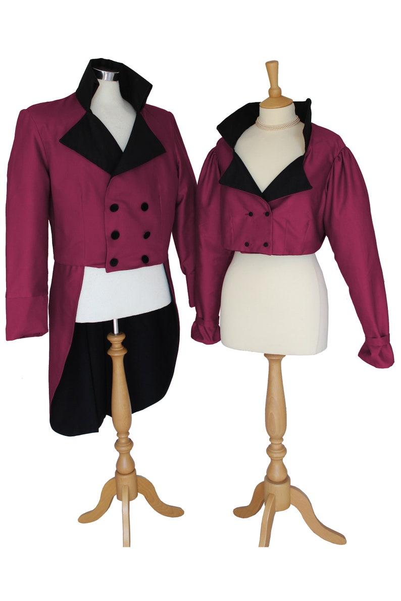 Ladies Regency Spencer Jacket Jane Austen 19th Century Reenactment  Historical Costume Jacket Theatre Made To Order UK Sizes 6 - 26