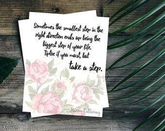 Take A Step Quote Printable 8x10 Wall Art Decor
