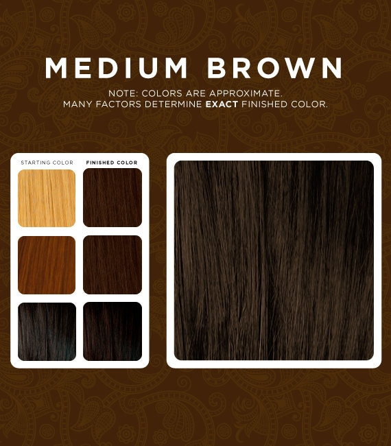 Medium Brown Henna Hair Dye Etsy