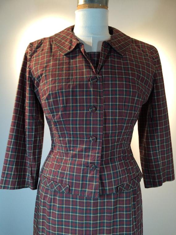 Chocolate Tattersall Shirtdress & Jacket