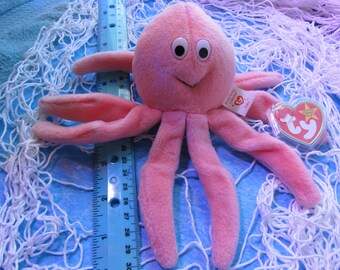 Ty Beanie Baby Octopus Inky - Near Mint Condition - For Easter Basket a3c0f69acfc8