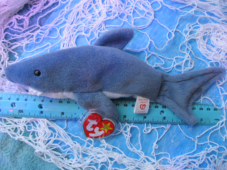 Ty Beanie Baby Shark Crunch Near Mint Condition  6578a9513064