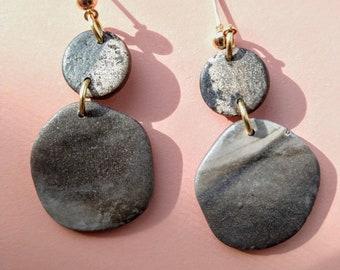 The Avi Quartz Collection Dangle Handmade polymer clay earrings