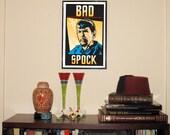 """Bad Spock 11""""w x 17&..."""
