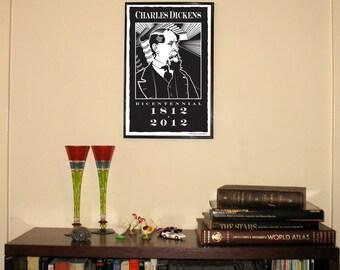 "Charles Dickens 11""w x 17""h Print"