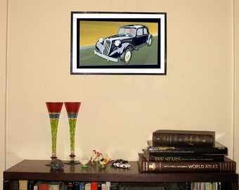 "Citroen Traction Avant 11""w x 17""h Print"