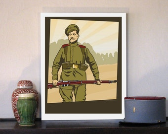 """1914 Russian Frontovik Soldier 16""""w x 20""""h Giclee"""