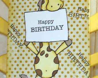 Birthday card/giraffe card/childrens greeting card