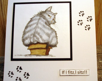 Card for Crazy Cat Lady/Any occasion card/Cat lovers card