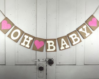 Baby shower banner, Welcome baby banner, Baby shower decor, Oh Baby shower decorations, Baby photo prop