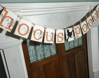Hocus Pocus Banner, Halloween Banner, Halloween Decoration, Halloween Photo Prop