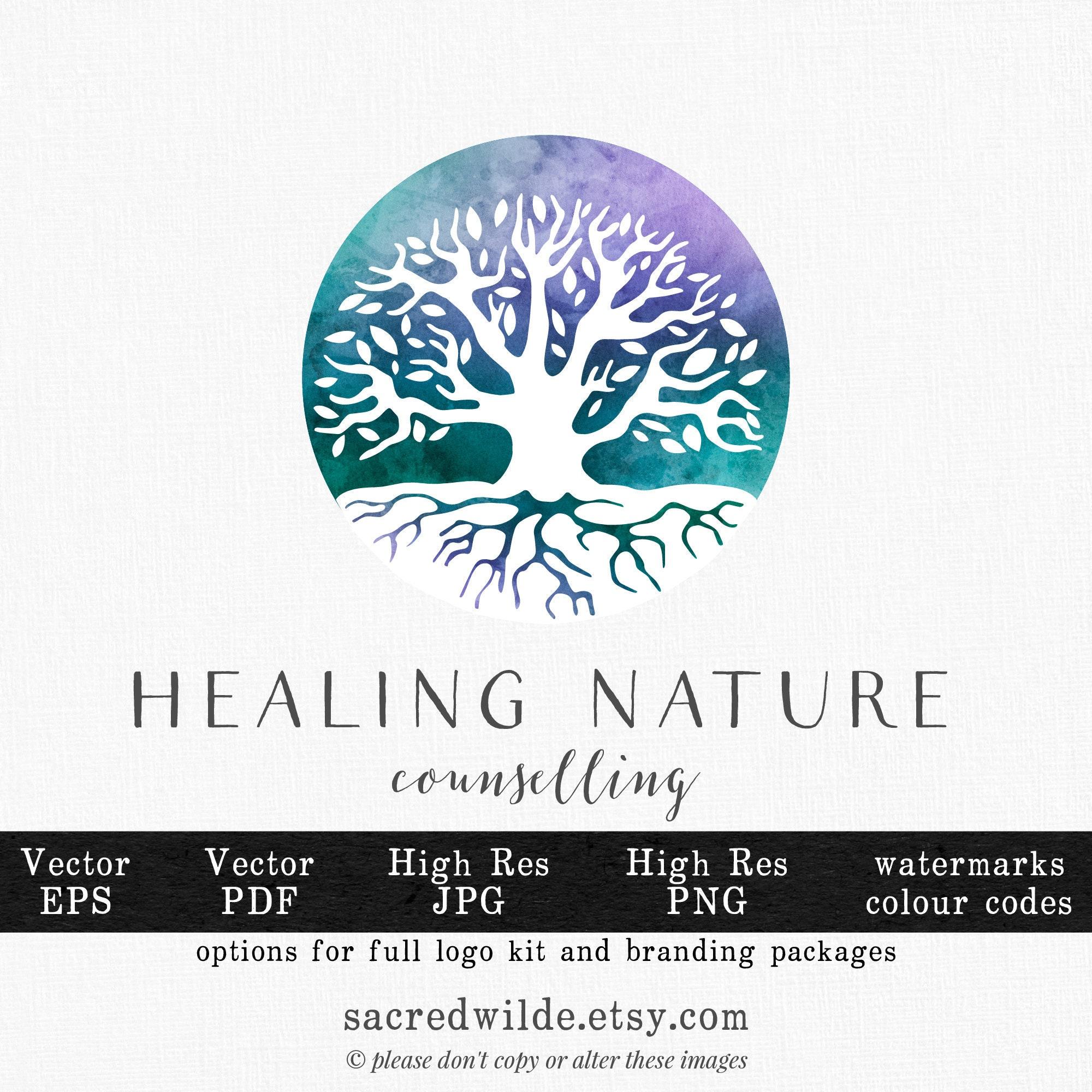 Watercolour Tree of Life Logo , Watercolor Tree , Healing Logo , Wellness  Logo , Massage Therapy Logo , Massage Logo , Holistic Logo