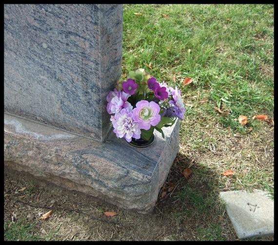 Flower Holder For Cemetery Monument Vase For 3 Inch Diameter Etsy