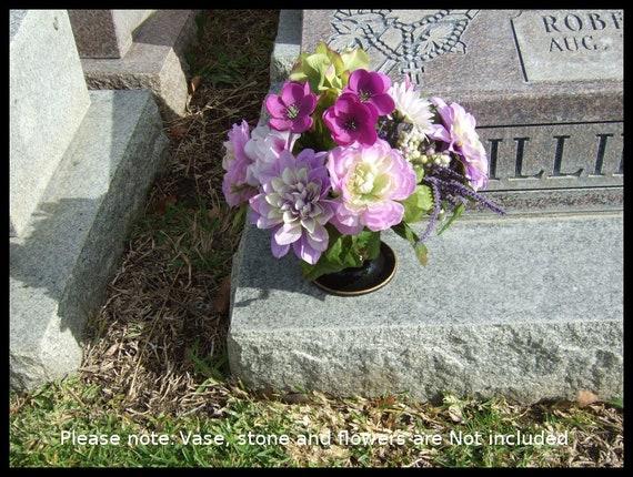 Flower Holder For Cemetery Monument Vase For 4 Inch Diameter Etsy