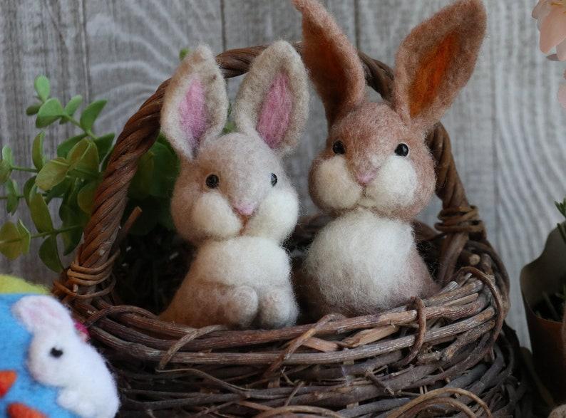 Bunny with Carrot Needle Felting Kit  Basic or Complete Kit image 1