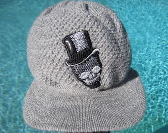 Visor beanie hat handmade with leather designs. Beanie with patch. Skull  Beanie. Cross beanie. Fashion beanie. Wool beanie. Visor beanie 5a15d289d7da