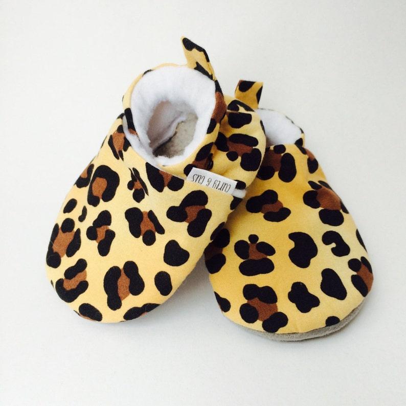 9843645fca594 Léopard bébé Chaussures Animal Print bébé semelle souple