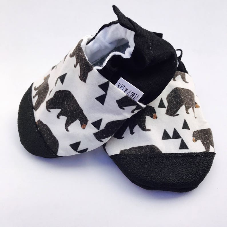 05039cf8e Bear Baby Shoes Woodland Baby Shoes Baby Boy Shoes Soft