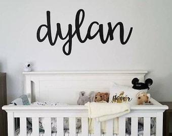 Great Nursery Name Sign, Babies Room Name Sign, Custom Metal Name Sign, Nursery  Room Decor, Kids Room Signs, Cursive Word, Custom Name Sign