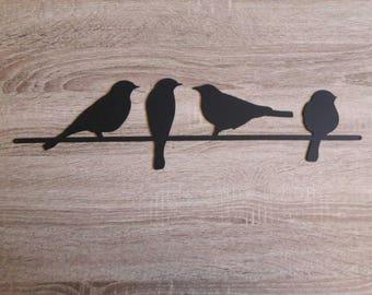 Metal Bird Wall Art, Birds on a Wire Wall Art, Metal Wall Art, Black Birds Wall Art