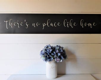 Thereu0027s No Place Like Home Sign, Metal Thereu0027s No Place Like Home Sign,  Farmhouse Decor, Home Decor, Home Decor Signs