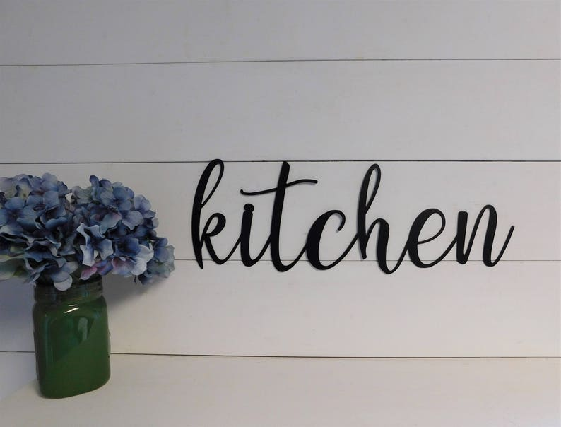 Kitchen Sign Metal Kitchen Sign Rustic Word Art Sign Metal Etsy