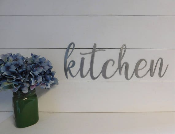 Kitchen Sign, Metal Kitchen Sign, Rustic Word Art Sign, Metal Signs,  Kitchen Signs