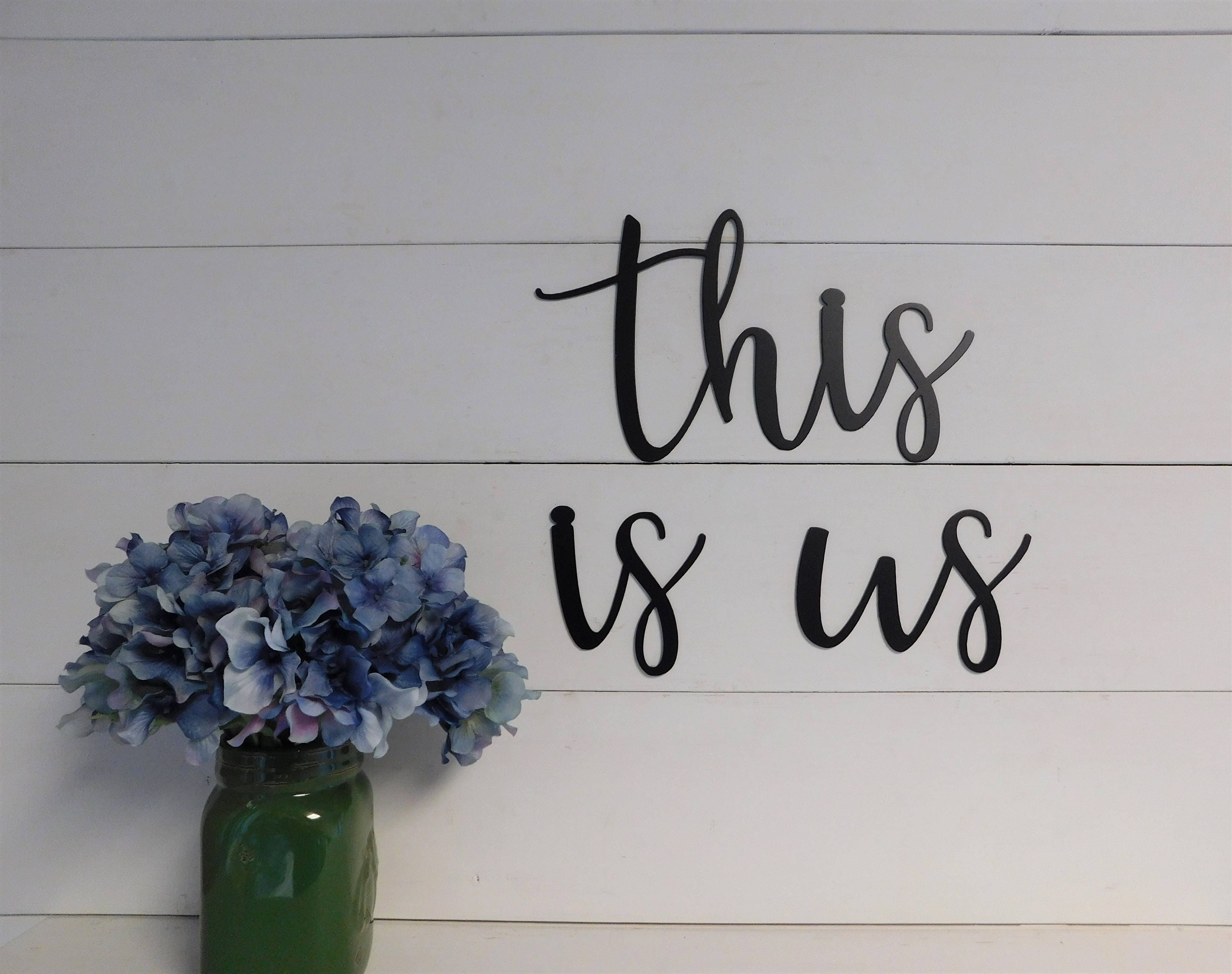 This Is Us Sign  Flower Sign  Rustic Sign  Wood Sign