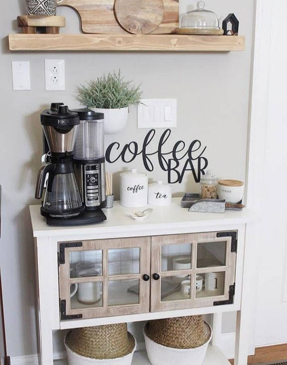 Coffee Bar Sign Metal Coffee Bar Sign Rustic Word Art Sign ...