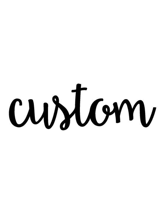 Custom Metal Text Wall Art
