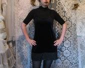 90 39 s Black Velvet Mini Dress Goth Grunge Little Black Dress Strega Dark Mori Burnout Velvet Floral Vine Spirals Sleeveless Spaghetti Straps