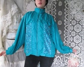 80s Windbreakers, Jackets, Coats 100 Silk Windbreaker 80s 90s Teal Floral Light Spring Jacket Silky Retro Hipster Bomber Jewel Tones Silk Exchange Oversized Purple Pink L $34.00 AT vintagedancer.com