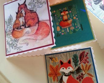 Print at home do it yourself diy christmas fox mini gift etsy print at home do it yourself diy autumn fox mini gift cards tags note cards cute foxy kawaii fox elegant fox digital printable solutioingenieria Gallery
