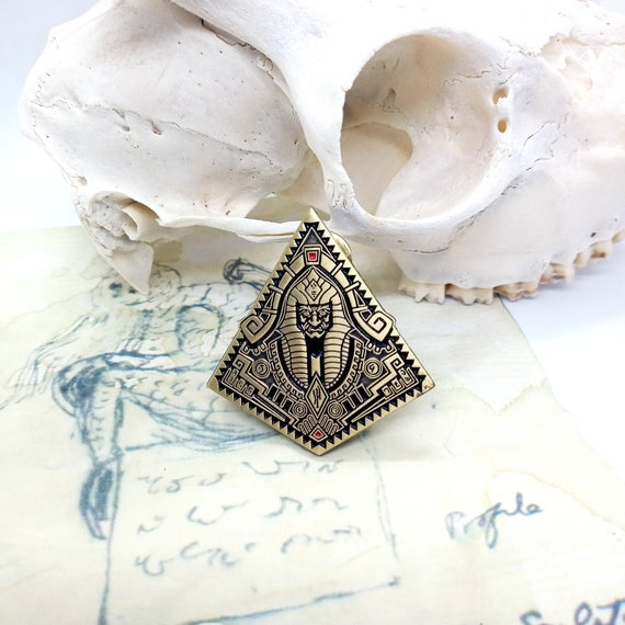 AZATHOTH PIN lovecraftian soft enamel pin horror enamel pin