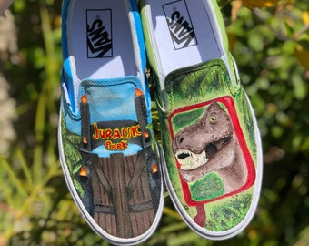Jurassic Park Custom Painted Shoes 39758170d708