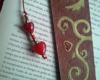"Bookmark leather ""with you"""