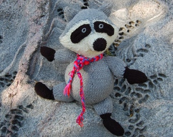 Knitted Raccoon Rocket