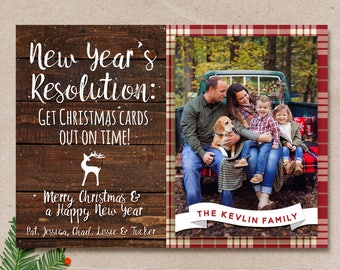 Late christmas card etsy rustic christmas card late christmas card holiday christmas card new years resolution card m4hsunfo