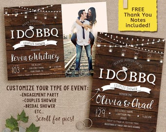 I DO BBQ Invitation / Couples Shower invitation / Engagement party / Digital File