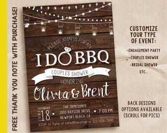 We said I do, I do bbq invitation, I do bbq, I do printable invitation