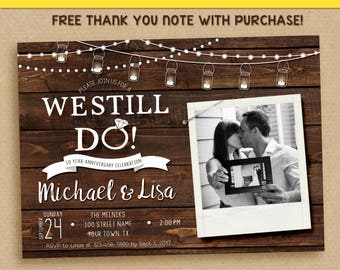Rustic vow renewal invitation vow renewal invitationwe still etsy we still do invitations we still do invite we still do with picture printable invitation stopboris Images