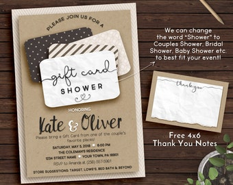 Gift Card Shower Invitation