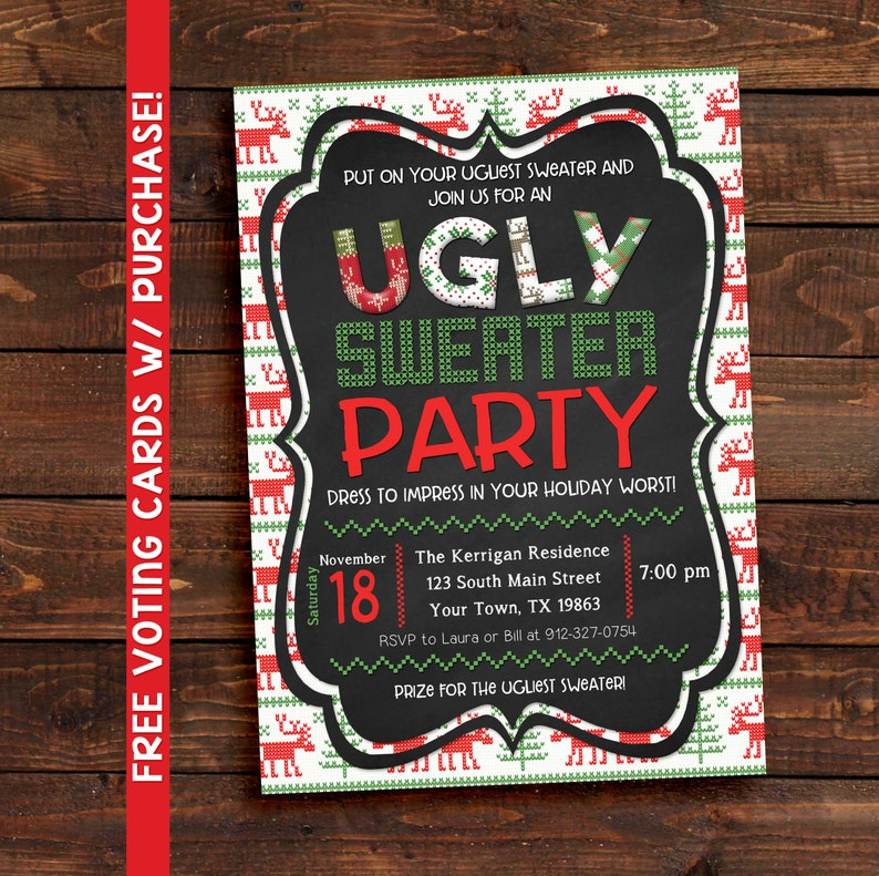 Ugly Sweater Party Invitation Invitations